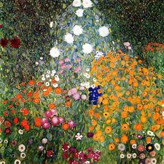 """Jardin de Fleurs"" (1906-1908) par Gustav Klimt (1862-1918)"