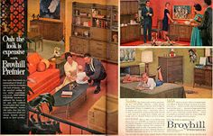 Mad for Mid-Century: Broyhill Premier Mid-Century Furniture Ads