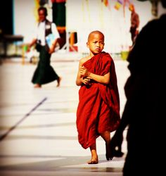 A child Monk on the way to his monastery. Buddhism says, that once in a life time, males should become a monk. Most of them are sent in their childhood. Becoming A Monk, Most Favorite, Countries Of The World, Buddhism, Travel Inspiration, How To Become, Childhood, Couple Photos, Life