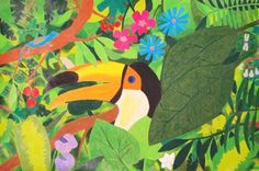 35 Ideas For Jungle Animal Art For Kids Henri Rousseau Jungle Drawing, Jungle Art, Nature Drawing, Henri Rousseau, Art Lessons For Kids, Art For Kids, Forest Art, School Art Projects, Arts Ed