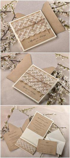 Las invitaciones son la carta de presentación de tu enlace. No las elijas al azar, inspírate en esta idea #boda #invitaciones