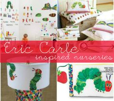 Eric Carle inspired nursery - The Very Hungry Caterpillar  Inspiration for my baby boys room.