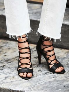 Free People | Dusk To Dawn Lace Up Heel #FreePeople #laceup #heels