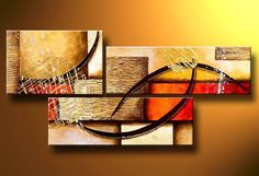 Hand Painted Art Abstract Art Large Painting Canvas Art 3 Piece Wall Art Abstract Oil Painting Deco Home Decoration (Unstretch No Frame) Modern Oil Painting, Large Painting, Oil Painting Abstract, Hand Painting Art, Painting Gallery, Painting Canvas, Casa Art Deco, Art Deco Home, 3 Piece Wall Art
