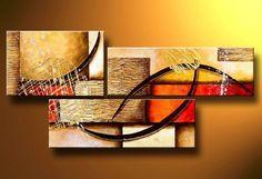 cuadros abstractos modernos | cuadros-modernos-abstractos-tripticos-texturados - Galería Arte ...