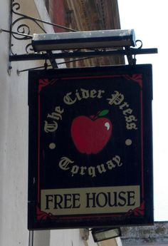 Cider Press Pub sign Torquay
