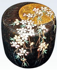 Japanese Tea Ceremony: Natsume, ornate tea caddy
