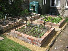 brick raised bed garden ideas