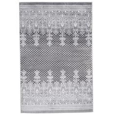 $277 8x10 WHITE - Dining room or even bedroom??? Lavish Home Royal Garden Gray & White Area Rug & Reviews | Wayfair