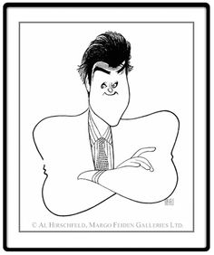 "Jay Leno: Hand signed by Al Hirschfeld  Limited-Edition Lithograph  Edition Size: 100.  20"" x 18"""