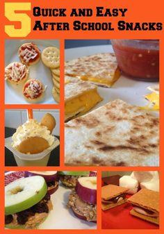 5 Quick & Easy After School Snacks