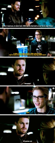 "#Arrow 5x22 ""Missing"" - Oliver and Felicity"
