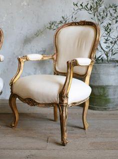 Sillón Luis XV Francés estilo serpentina