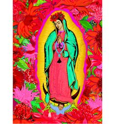 Our Lady Guadalupe Frida Kahlo Print Photomontage by ARTDECADENCE