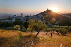 """La splendida foto di Assisi di Steve McCurry esposta a Perugia alla mostra """"Sensational Umbria"""" ricorda i versi di Dante: """"Di questa costa, là dov'ella frange più sua rattezza, nacque al mondo un sole, come fa questo tal volta di Gange. Però chi d'esso loco fa parole, non dica Ascesi, ché direbbe corto, ma Oriente, se proprio dir vole"""". (Dante, Paradiso XI, 43-54)"""