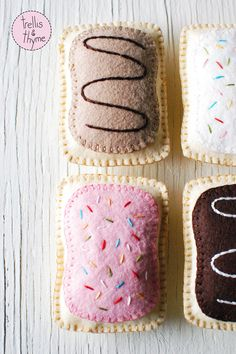 You know how it is: you're craving Pop Tarts, so you make some. (Trellis & Thyme 'Toaster Pastry' felt softie pattern - coming soon!)