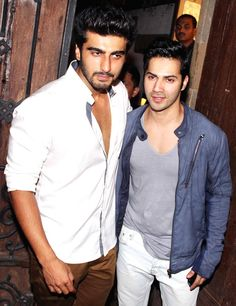 Arjun Kapoor with Varun Dhawan at birthday bash #Bollywood #Fashion