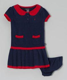 Look at this #zulilyfind! Naval Blue Sweater Dress - Infant & Toddler by Nautica #zulilyfinds