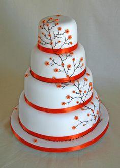 Wedding Cake - Orange Cherry Blossom, via Flickr.