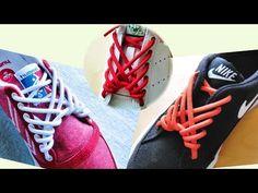 〔靴紐の結び方〕炎のような模様になる靴ひもの通し方 丸ひも編 how to tie shoelaces 〔生活に役立つ!〕 - YouTube Fancy Shoes, Tie Shoes, Ways To Tie Shoelaces, Shoe Lacing Techniques, Ways To Lace Shoes, Creative Shoes, Lace Art, Diy Braids, Cute Pillows