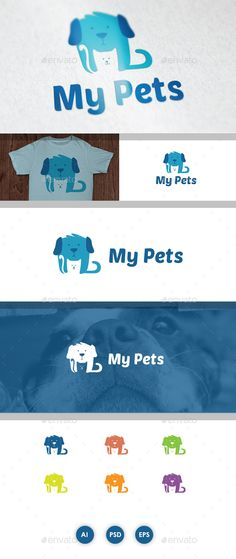 My Pets Logo Template PSD, Transparent PNG, Vector EPS, AI Illustrator. Download here: https://graphicriver.net/item/my-pets/17113558?ref=ksioks
