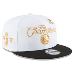 Men s Golden State Warriors New Era White 2018 Ring Ceremony 9FIFTY  Adjustable Hat 0f49ba11aaa