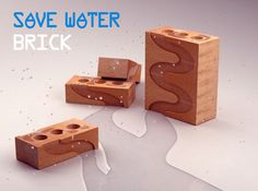 Save Water Brick... Funnels rainwater where you want it to go. Water lawns, gardens, store water, etc.