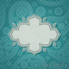 Green pattern tag vector
