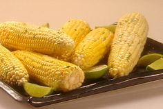 Roasted Corn on the Cob with Cilantro Lime Butter from FoodNetwork.com