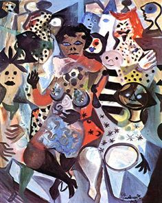 Figuras Carnavalescas, 1965 Di Cavalcanti (Brasil, 1897-1976) óleo sobre tela,  100 x 82 cm