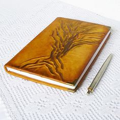 Leather Journal Diary A5 Writing Notebook Travel by AnnaKisArt  #leatherjournal, #A5, #leathernotebook, #giftforwomen, #giftformen, #traveljournal, #writingjournal, #leatherdiary, #journaldiary, #leathergift, #diary, #rusticjournal, #bucketlist