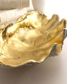 Golden Shell Bowl: I have been obsessing over this for 6 months, and keep stalking this site to see when it's clearanced.  It's unexpected, a conversation piece, and adds some whimsy to informal space.