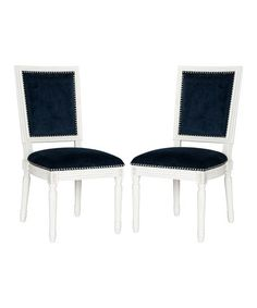 Loving this Navy Velvet Clarkson Side Chair - Set of Two on #zulily! #zulilyfinds