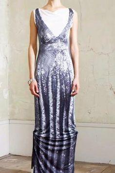 BNWT H&M MAISON MARTIN MARGIELA JERSEY PRINT SEQUIN LONG DRESS UK 8 10 12 16