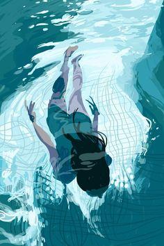 Nadando Azul