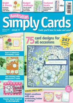 Australian Simply Cards  Australian Simply Cards magazine is the perfect source of cardmaking ideas and inspiration, helping you create quality cards for every occasion. It's published twelve times a year, and every issue comes with a fabulous free gift to boost your stash.