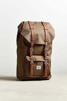 Urban Outfitters Herschel Supply Co. Little America Backpack - Tan One Size Backpack Outfit, Men's Backpack, Hiking Backpack, Herschel Supply Co, Herschel Backpack Little America, New Man Clothing, Urban Outfitters, Little Backpacks, Backpacking India