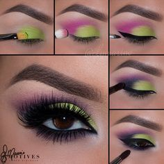 "How-to step by step Pictorial for my previous look! For all of you beautiful ladies who feel a bit more daring using @motivescosmetics with beautiful dramatic lashes by @houseoflashes Let's begin... 1.Begin by applying ""Ivory"" (My beauty weapon palette) onto the brow bone. Taking ""Electric"" apply onto the first part of the lid 2.Using ""Wildflower"" apply to the outer corner of the eyes and sweeping it into the crease, stopping halfway in 3.Line the eyes with ""Little Black Dress"" gel liner as…"