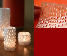 candle holder outta paper