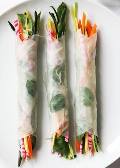 fork and flower: summer rolls with crudités
