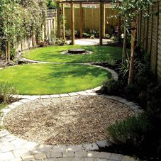linked circles a simple low budget solution for a typical victorian mid terrace property with - Small Garden Design Examples