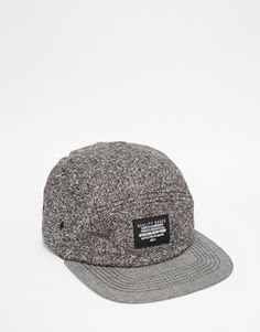 ASOS 5 Panel Cap In Grey With Nep