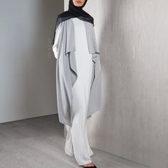 The perfect layering piece featuring a waterfall drape. Team yours with our Off-White Bonded Edge Top and White Pleat Front Palazzos for a fresh look! www.inayah.co