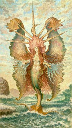 james fodor - winged mermaid goddess