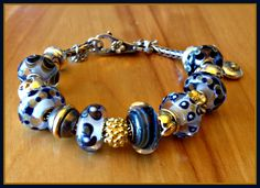 Navy & Glitter-From Dani a great collector on Trollbeads Gallery Forum!  Join us!!