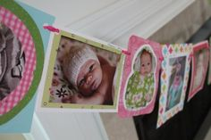 Banner using monthly baby pictures for first birthday