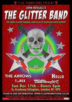 Arrows, Hello & the Glitter Band and more at the 02 Academy Islington UK. Dec. 17th, 2017.