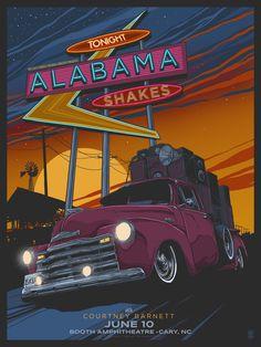 Alabama Shakes - gig poster - Vance Kelly https://www.pinterest.com/0bvuc9ca1gm03at/