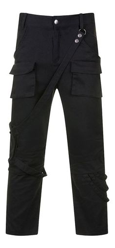 Necessary Evil Volturnus Mens An awesome pair of men's trousers from Necessary Evil! Featuring a detachable pocket pouch that attaches to a belt loop and is secured by a thigh strap, the Volturn. Punk Outfits, Gothic Outfits, Great Mens Fashion, Black Trousers, Office Wear, Designer Wear, Gothic Fashion, Fashion Design, Fashion Ideas