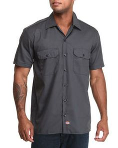 Dickies | Short Sleeve Button-Down. Get it at DrJays.com